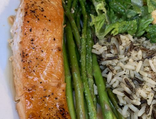 Maple Sriracha Glazed Salmon